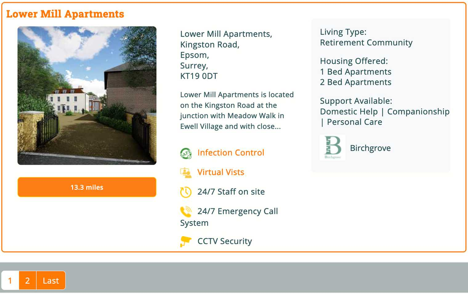 Lower Mill Apartments is just one of the listings that will appear in a search for Retirement Living in Surrey on Autumna.
