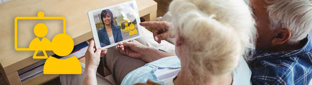 The virtual visit icon makes booking your care home visit easy