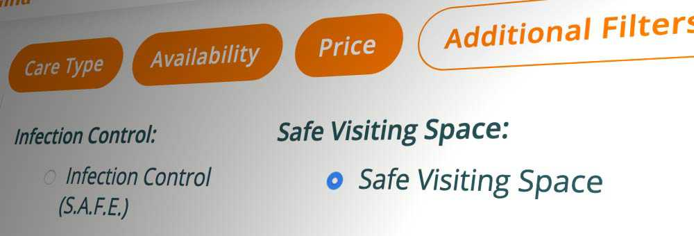 Use the additional filters to search for safe visiting spaces on Autumna