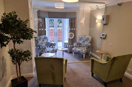 Arlington Manor Care Home safe visiting space
